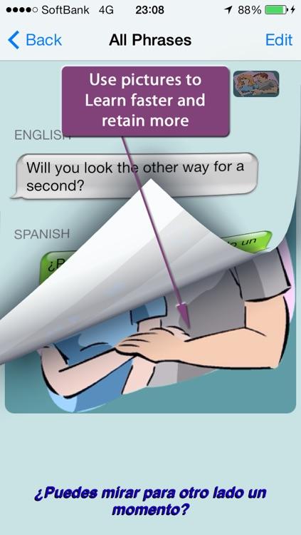 Spanish - Talking English to Spanish Phrasebook + Translator screenshot-3