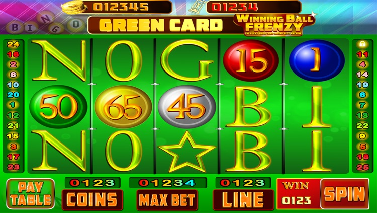 Winning Ball Frenzy : The Lucky Bingo Card Casino Slot Machine - Free Edition screenshot-3