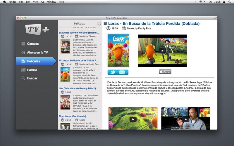 Televisión Argentina скриншот программы 3