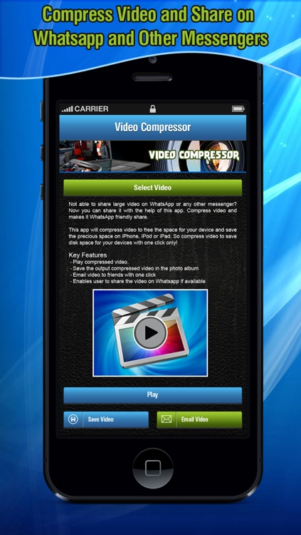 Video Compressor for Messengers