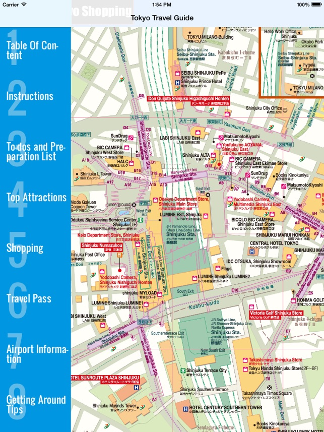 Japan JR Travel Guide and Offline city map bundle - Japans Tokio U ...