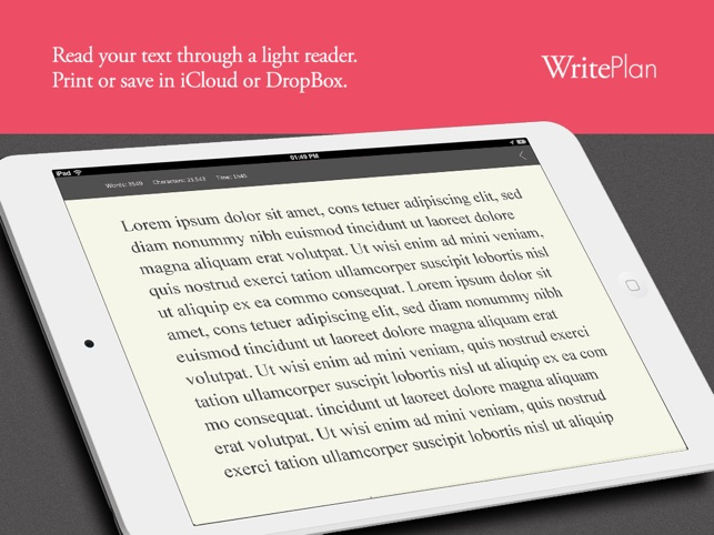 Writeplan - Plan and Write your Books Screenshot