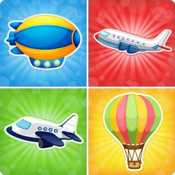 Planes preschool matching toddlers game : Family games for Kids match aircraft HD and FREE