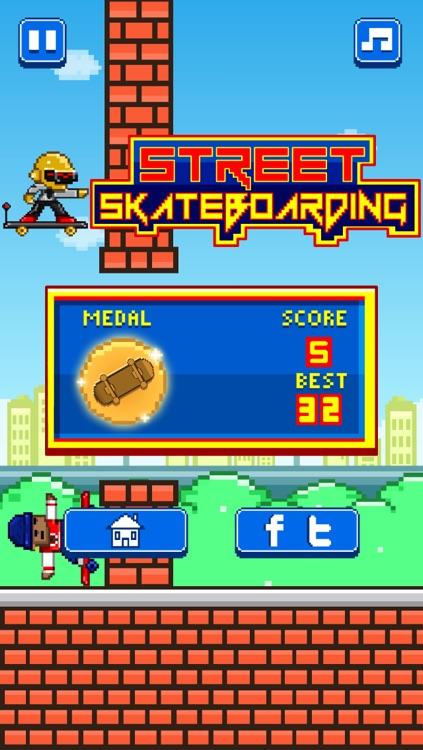 Street Skateboarding - Play Free 8-bit Retro Pixel Skating Games screenshot-3