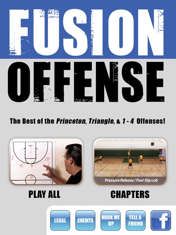 The FUSION Offense: Princeton, Triangle & 1 - 4 - With Coach Jamie Angeli - Full Court Basketball Training Instruction - XL