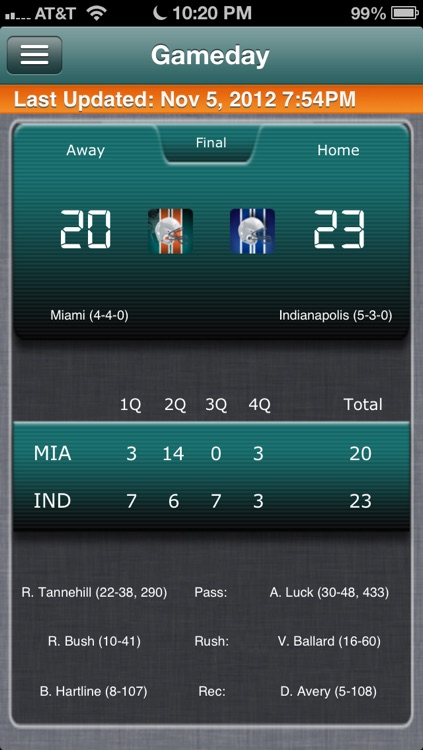 Miami Football Live screenshot-0