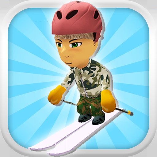 A Downhill Snow Skier: 3D Mountain Skiing Game - FREE Edition icon