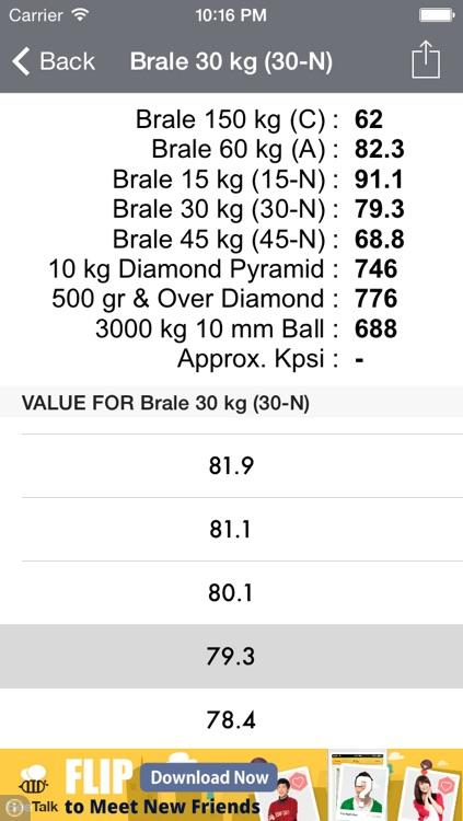 Hardness Converter Tool screenshot-3