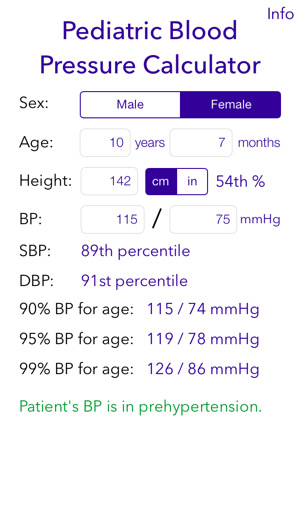 Pediatric Bp Calculator On The App Store