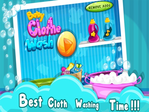 Baby Cloth Wash & Dressup - Girls & Kids Fun Games-ipad-0