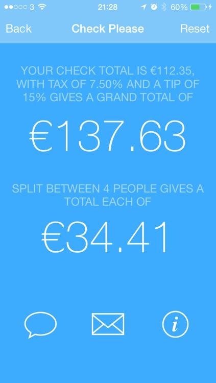 Check Please - Tip & Check Split Calculator screenshot-4