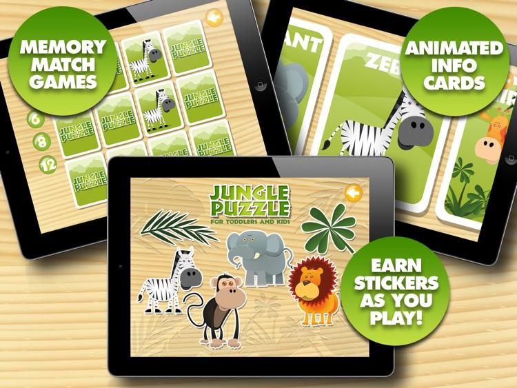 Jungle Animal Puzzles screenshot-3