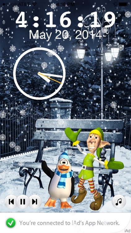 Frozen Penguin and Elf Nightlight Music Player
