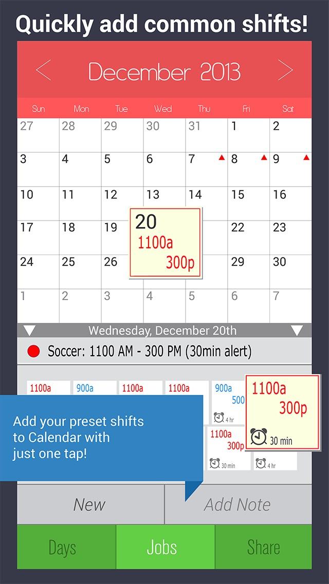 Shift Calendar – Arbeitsplan-Manager für Produktive Job & Stundenverfolgung Screenshot