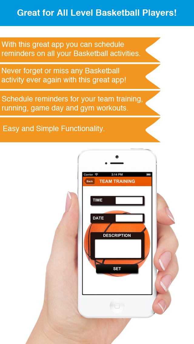 Basketball Reminder App - Stundenplan Ablaufplan Reminders-SportScreenshot von 2