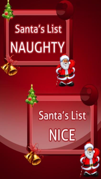 Santa Christmas Naughty or Nice List. Free