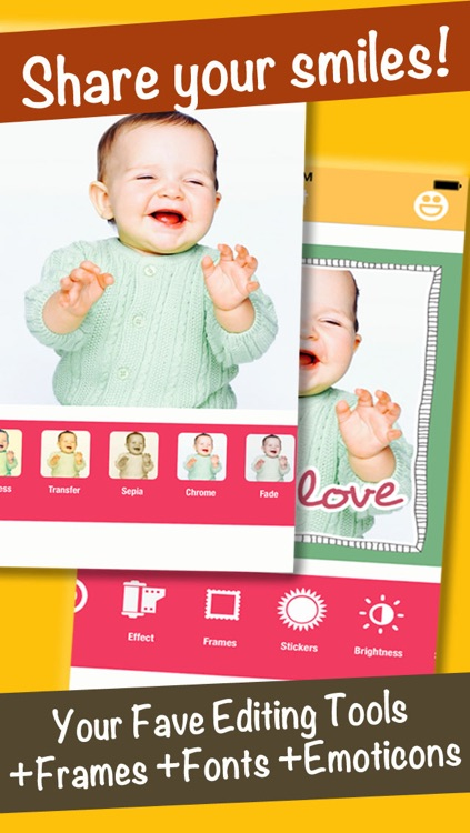 SmileyGram - Photo Edit with Emoticons, Frames, and Fonts screenshot-4