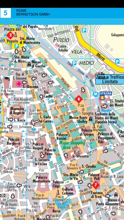 Rome. City map