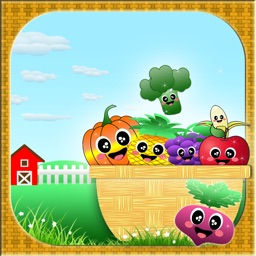 AAA Veggie-Fruity Farm Puzzle Game -- Unleash the heroes in you!!