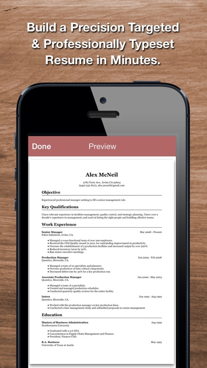 Resume Star: Pro CV Maker and Resume Designer with PDF Output to Help You Score that Job Interview and Advance your Career