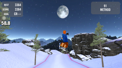 Screenshot from Crazy Snowboard