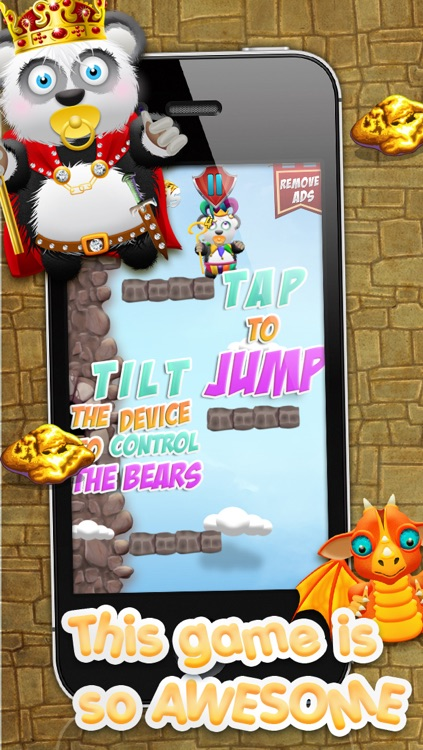 Baby Panda Bears Battle of The Gold Rush Kingdom HD - A Castle Jump Edition FREE Game!