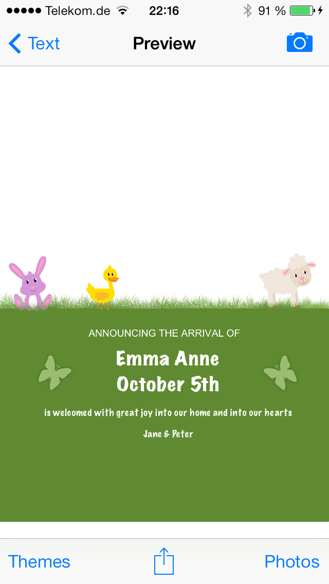 Baby Camera Selfie Free - Birth Announcement and Thank You Cards screenshot four