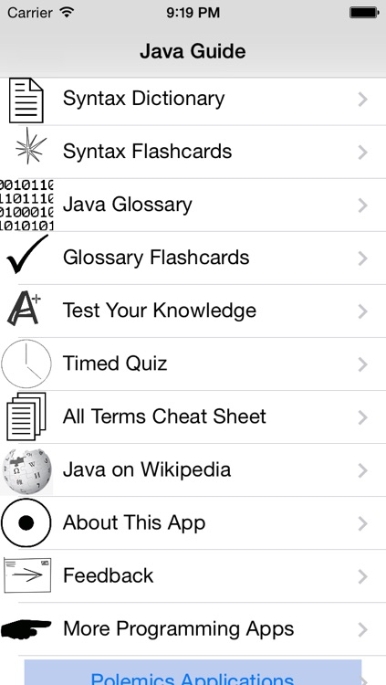 Java Dictionary and Flashcards