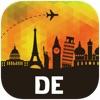 ドイツ オフラインマップ、ガイド。ホテル、天候、旅行 ベルリン,ミュンヘン,フランクフルト,ケルン