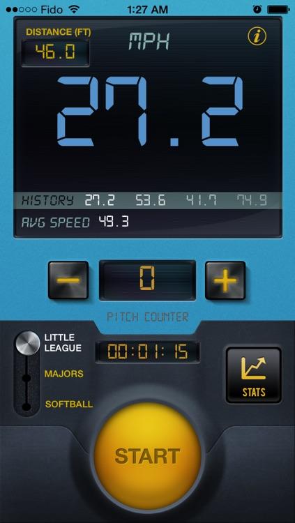 Baseball Speed Radar Gun Pro By CS Sports screenshot-3