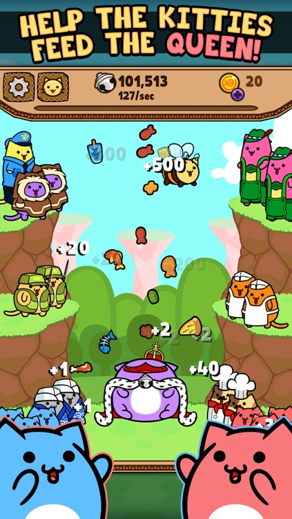 Kitty Cat Clicker - Feed the Virtual Pet Kitten with Fish, Pizza, Candy and Cookie Chips