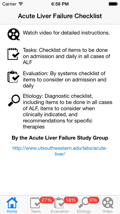 ALF Checklist