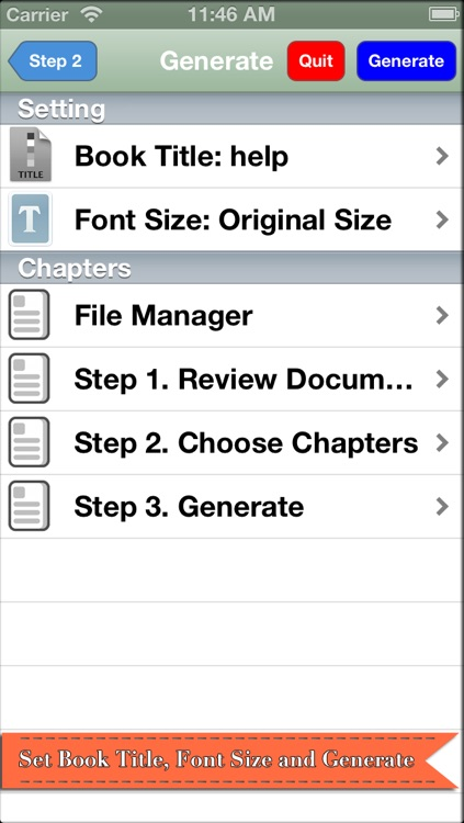 Doc2Book - Convert .docx & .doc (Microsoft office word document) to iBook epub book screenshot-4