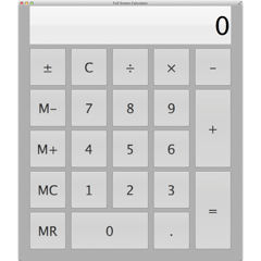 Calculadora Ecrã Inteiro