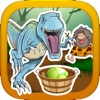A Prehistoric Stone Age War with Dino Beasts- Catch the Rolling Egg and Hunt the Dinosaurs