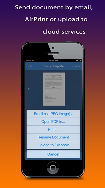 Quick Scanner Free : document, receipt, note, business card, image into high-quality PDF documents screenshot-4