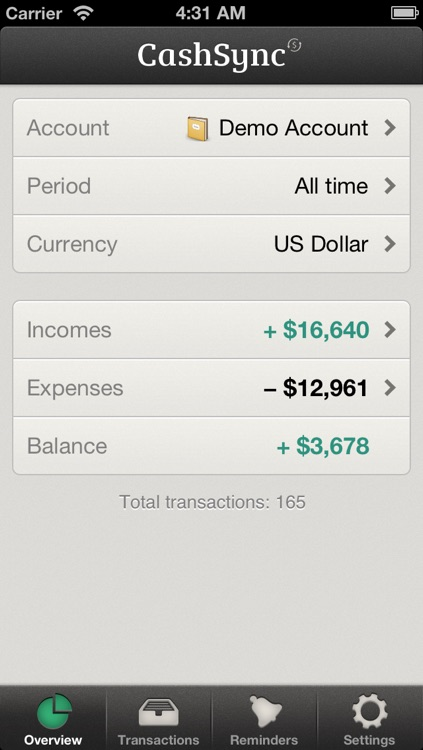 CashSync Classic - Expense and Income screenshot-4