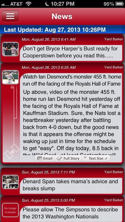 Washington Baseball Live screenshot-3