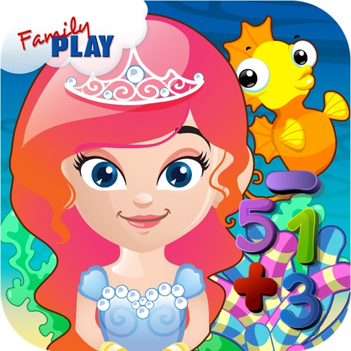 Mermaid Princess Preschool Adventure: Basic Addition, Subtraction, Missing Number and More Math Adventures