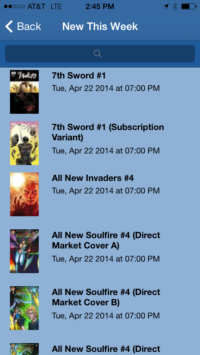 Comic Store Finder Screenshot