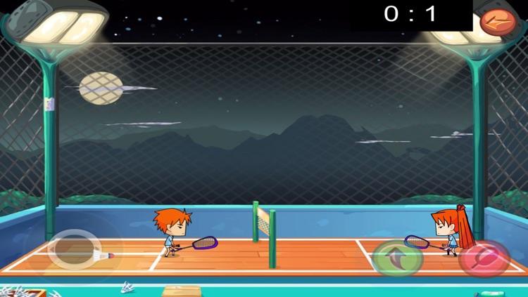 Cute of badminton