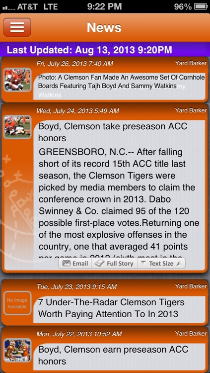 Clemson Football Live screenshot-0