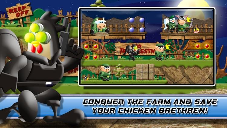 Stealth Chicken Ops: The Bravest Little Commander's Farm Trooper Rescue screenshot-4