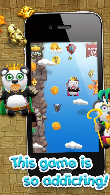 Baby Panda Bears Battle of The Gold Rush Kingdom - A Super Jumping Game FREE Edition! screenshot-3