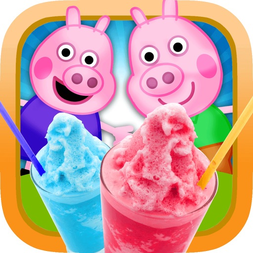 My Happy Little Pig Frozen Slushie Party Time Club Maker Mania Game - Free App Icon