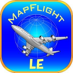 MapFlightLE Sky journey on the map