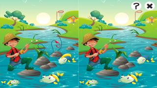 對於2-5歲的幼兒對遊戲釣魚:遊戲,拼圖和謎語的幼兒園,學前班或幼兒園。 學習 與海,水,魚,漁民和漁桿.屏幕截圖2