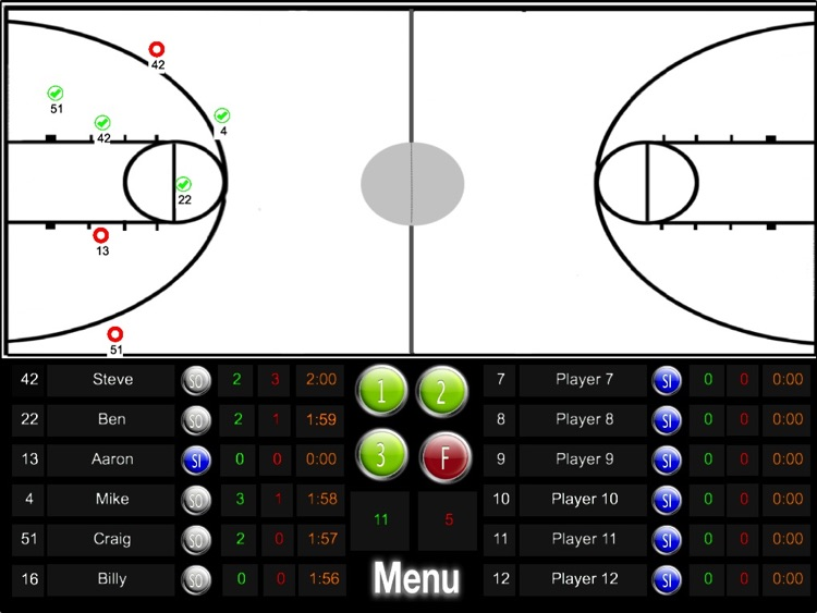 Basketball ScoreKeeper HD Lite screenshot-3