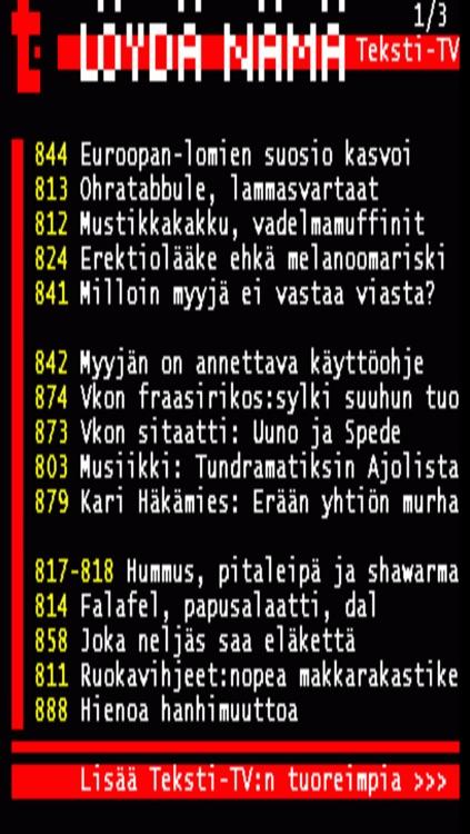 TekstiTV Finland
