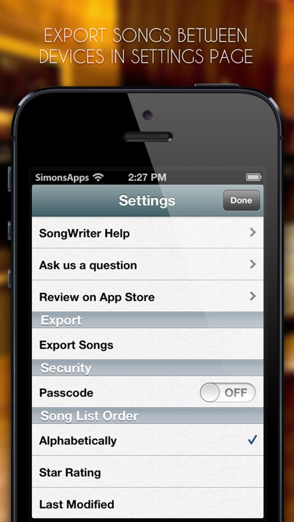 SongWriter - Write lyrics and record melody ideas on the go screenshot-4